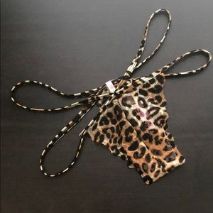 Victoria's Secret pink cheetah XS Thong